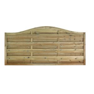 View Green Woodbury Timber Fence Panel (W)1.8m (H)900mm details