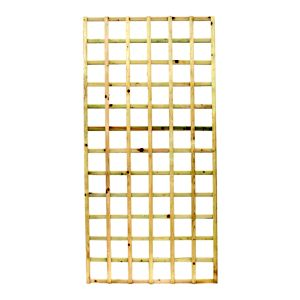 Image of Elite Timber Square Trellis panel (H)1.83m(W)0.32 m
