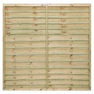 View Pro Timber Overlap Fence Panel (W)1.83m (H)1.8m, Pack of 4 details