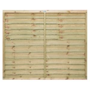 View Pro Timber Overlap Fence Panel (W)1.83m (H)1.5m, Pack of 5 details