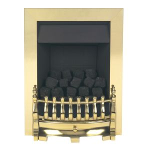 Image of Valor Blenheim Brass Inset Gas Fire