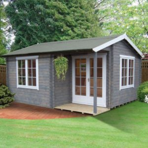 View 16X17 Twyford 44mm Tongue & Groove Timber Log Cabin with Assembly Service details