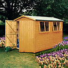 10X8 Atlas Apex Shiplap Wooden Shed Best Price, Cheapest Prices