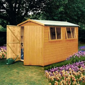 Image of 10X10 Atlas Apex Shiplap Wooden Shed with Assembly Service