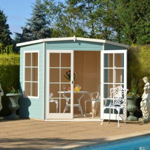 View Hampton 7X7 Shiplap Timber Summerhouse Base Not Included - with Assembly Service details