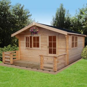 View Kiver 12X12 Loglap Timber Log Cabin - Assembly Required details