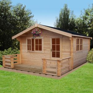 View Kiver 14X14 Loglap Timber Log Cabin - with Assembly Service details
