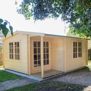 View Twyford 16X17 44mm Tongue & Groove Timber Log Cabin - with Assembly Service details