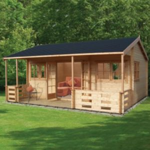 View Kingswood 20X18 44mm Tongue & Groove Timber Log Cabin - Assembly Required details