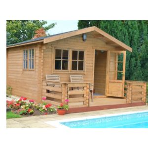 View Kinver 12X14 Loglap Timber Log Cabin - Assembly Required details