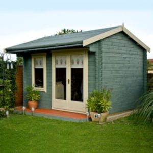 View Shire Marlborough 12X12 Shiplap Timber Log Cabin - Assembly Required details