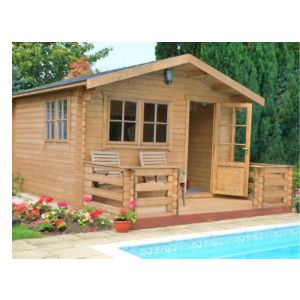 View Kinver 14X14 Loglap Timber Log Cabin - with Assembly Service details