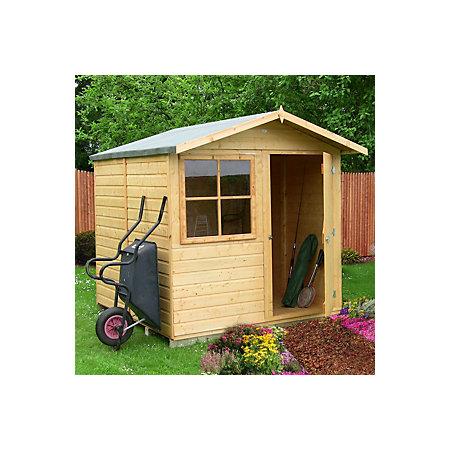 7x7 abri apex shiplap wooden shed