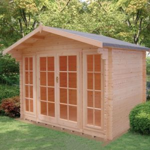 10X10 Epping 28mm Tongue & Groove Timber Log Cabin with Assembly Service