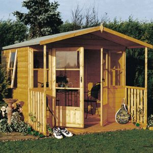 View Milton 8X9 Shiplap Timber Summerhouse - Assembly Required details