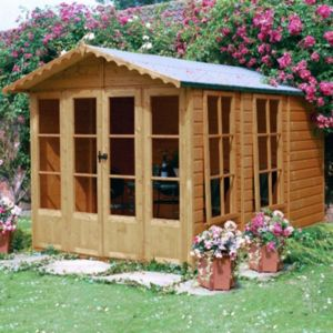 View Kensington 10X7 Shiplap Timber Summerhouse Base Not Included - Assembly Required details