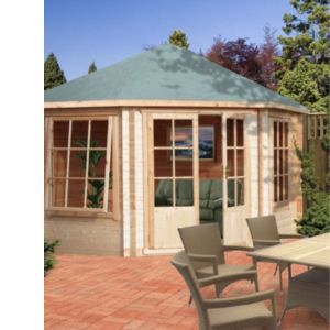 View Belvoir 10X10 28mm Tongue & Groove Timber Log Cabin - Assembly Required details