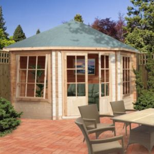 Image of 10X10 Belvoir 28mm Tongue & Groove Timber Log Cabin with Assembly Service