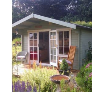 View Shire 10X8 Loglap Timber Cabin - with Assembly Service details