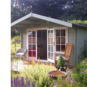 View Shire 12X8 Loglap Timber Cabin - with Assembly Service details