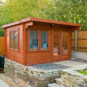 View Danbury 14X12 28mm Tongue & Groove 4 Way Corner Jointed Logs Timber Log Cabin - with Assembly Service details