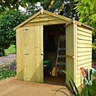 4X6 Apex Overlap Double Door Wooden Shed