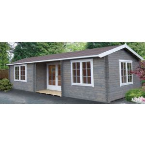 View Elveden 26X14 44mm Tongue & Groove Timber Log Cabin - with Assembly Service details