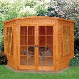 View 7X7 Shiplap Timber Summerhouse Base Not Included - with Assembly Service details