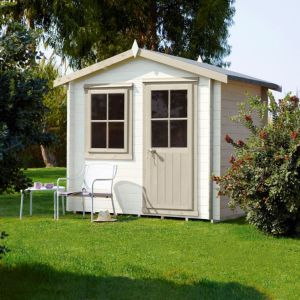 View Hartley 7X7 Loglap Timber Log Cabin - Assembly Required details