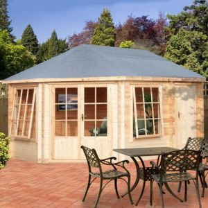 View Rowney 14X10 Loglap Timber Log Cabin - Assembly Required details