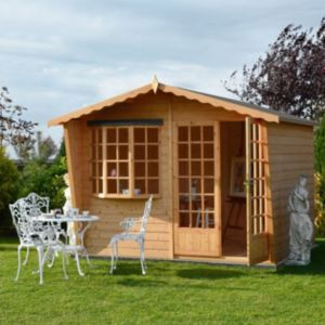 View Shire 10X10 Shiplap Timber Summerhouse - with Assembly Service details