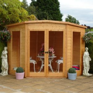 View Barclay 7X7 Shiplap Timber Summerhouse - with Assembly Service details