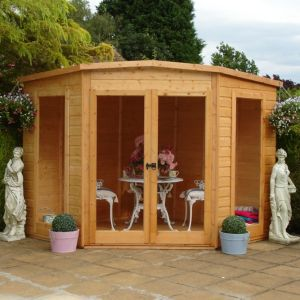 View Barclay 10X10 Shiplap Timber Summerhouse - Assembly Required details