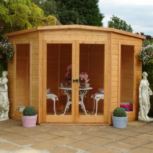 10X10 Barclay Shiplap Timber Summerhouse with Assembly Service