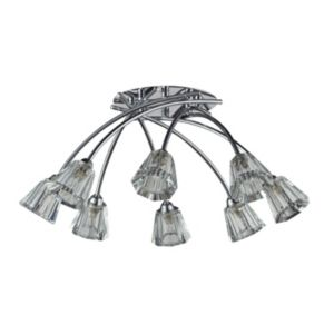 Image of Darling Cascade Smoked Chrome Effect 8 Lamp Ceiling Light