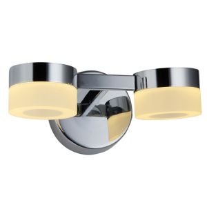 Image of Meroo Chrome Effect LED Double Bathroom Wall Light