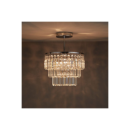 Bargo Clear Chrome Effect 3 Lamp Bathroom Ceiling Light ...
