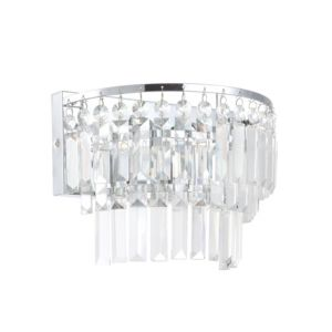Image of Bargo Chrome Effect Bathroom Wall Light