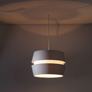 Image of Inlight Cassio Matt Light grey Two tier Light shade (D)330mm
