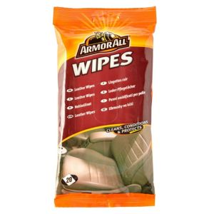 Image of Armor All Leather Surface Wipes Pack of 15