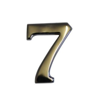 View Chrome Effect Metal House Number 7 details