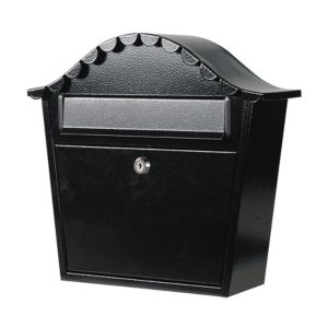 View The House Nameplate Company Black Letterbox (H)380mm (W)330mm details