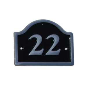 View Black Aluminium House Plate Number 22 details