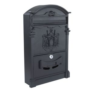 View The House Nameplate Company Black Letterbox (H)410mm (W)255mm details