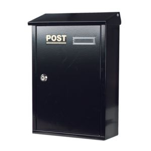 View The House Nameplate Company Black Letterbox (H)360mm (W)267mm details