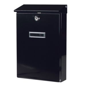 View The House Nameplate Company Black Letterbox (H)320mm (W)205mm details
