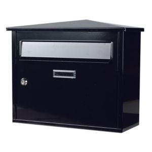 View The House Nameplate Company Black Letterbox (H)330mm (W)400mm details