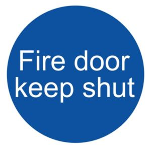 Image of The House Nameplate Company PVC Self Adhesive Fire Door Keep Shut Window Sticker (H)100mm (W)100mm