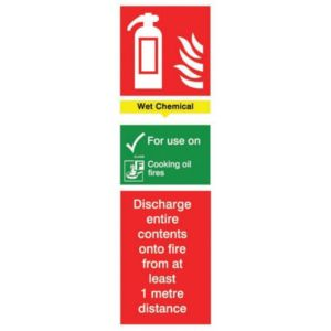 The House Nameplate Company PVC Self Adhesive Fire Extinguisher Wet Chemical Sign (H)280mm (W)85mm