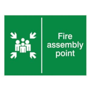 The House Nameplate Company PVC Self Adhesive Fire Assembly Point Sign (H)150mm (W)200mm